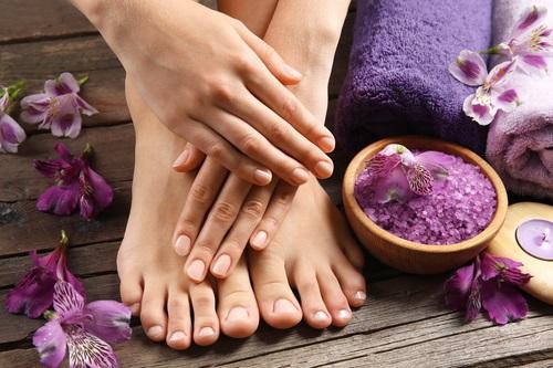 Give yourself a foot bath with Epsom salt