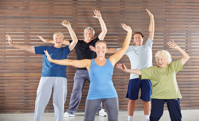 Baby Boomers in Exercise Class