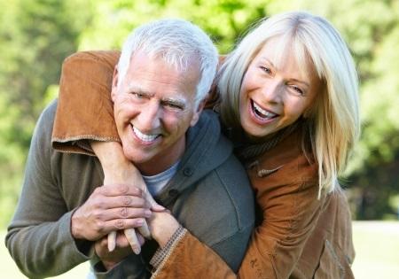 Happy Seniors Outdoors