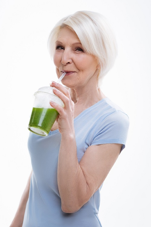 Woman with a Smoothie